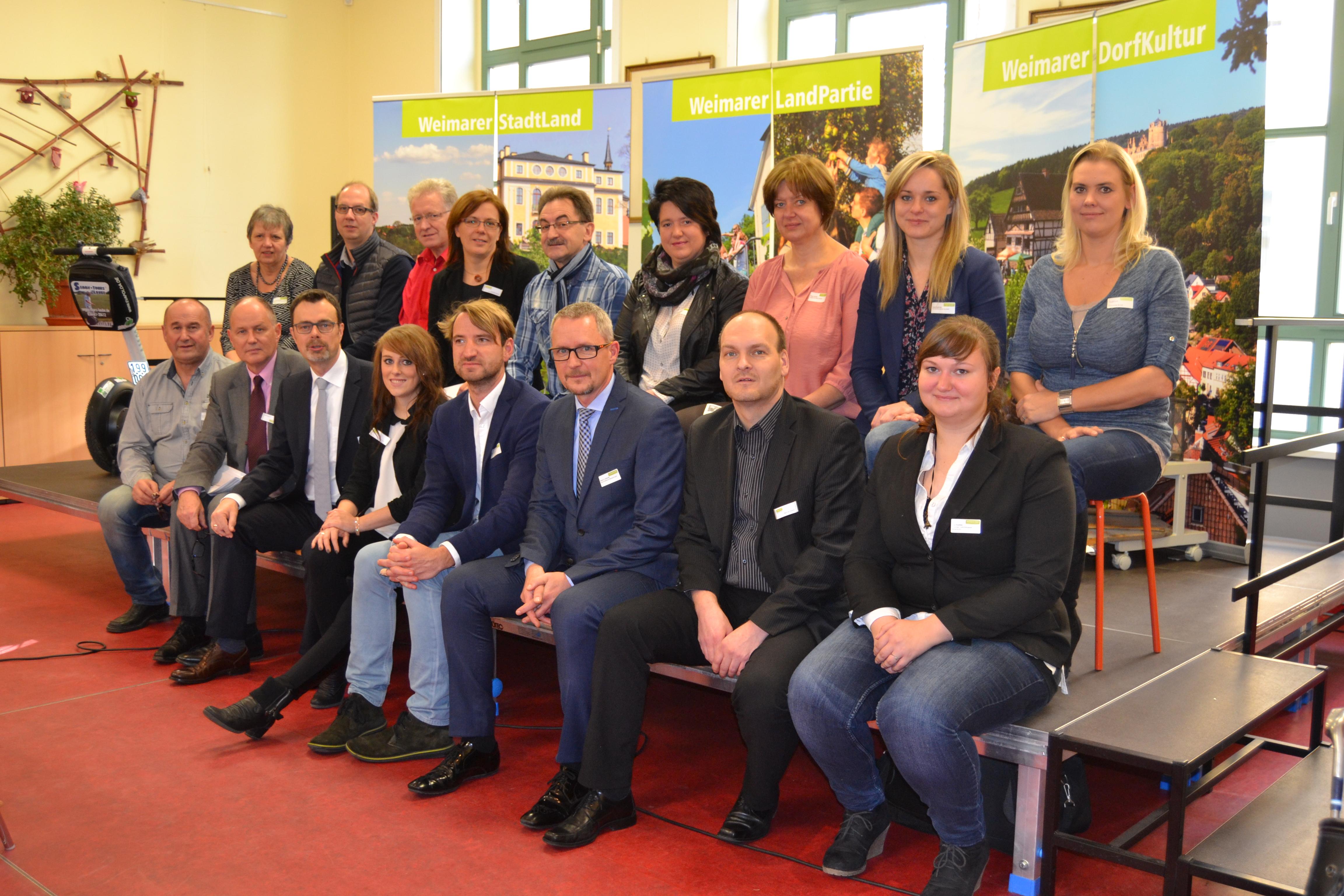 Akteure zur Präsentation des Tourismuskonzeptes , Weimarer Land Tourismus e.V.