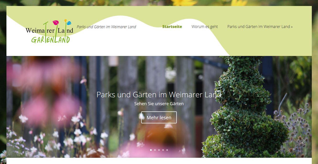 Weimarer Land - Gartenland: Internetauftritt, Aktive Akademie 50+ GmbH