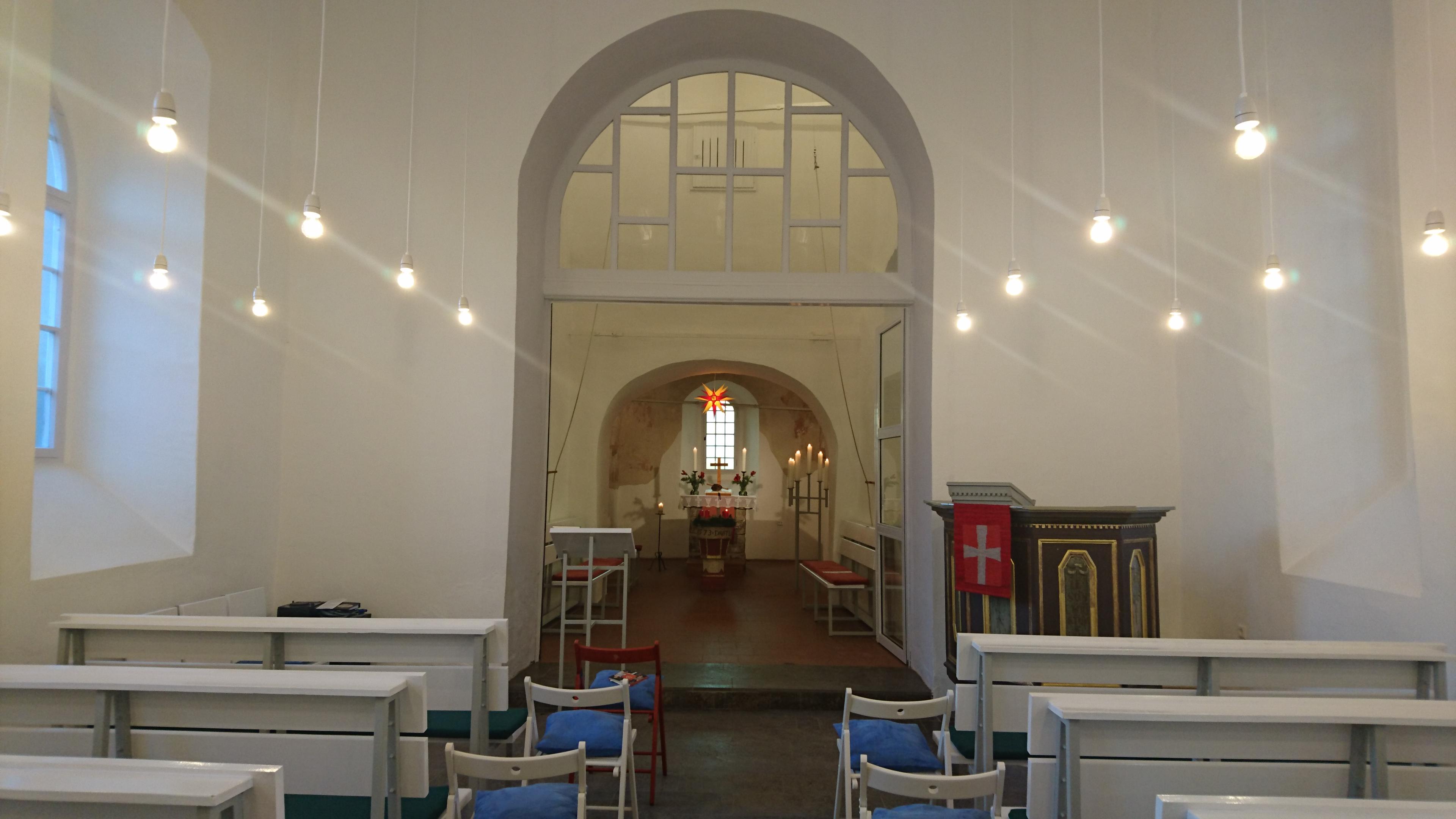 Innenraum der Feiningerkirche Gelmeroda - Ansicht 2 (RAG Weimarer Land - Mittelthüringen e.V.)