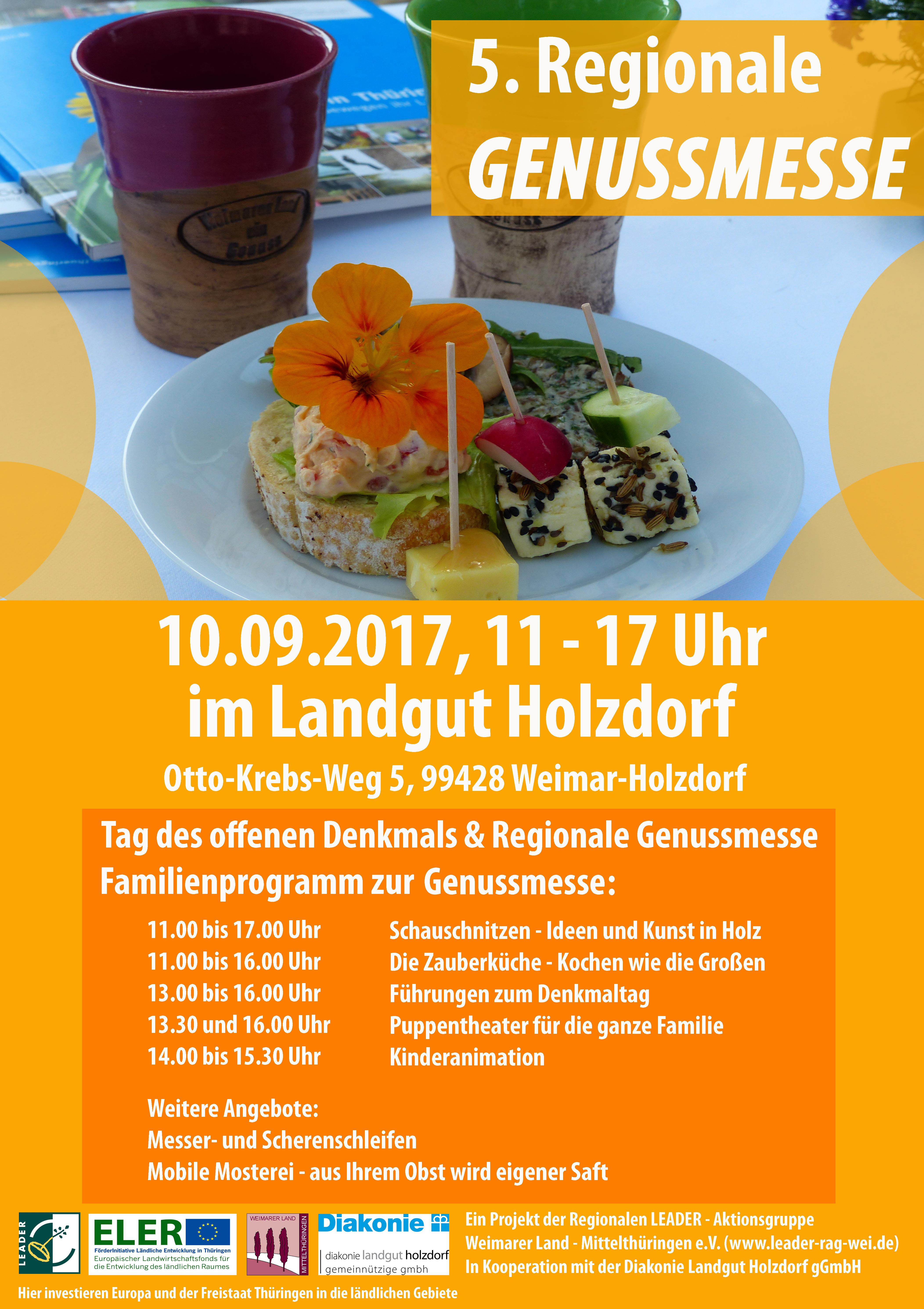 Plakat zur Genussmesse 2017 (RAG Weimarer Land - Mittelthüringen e.V.)
