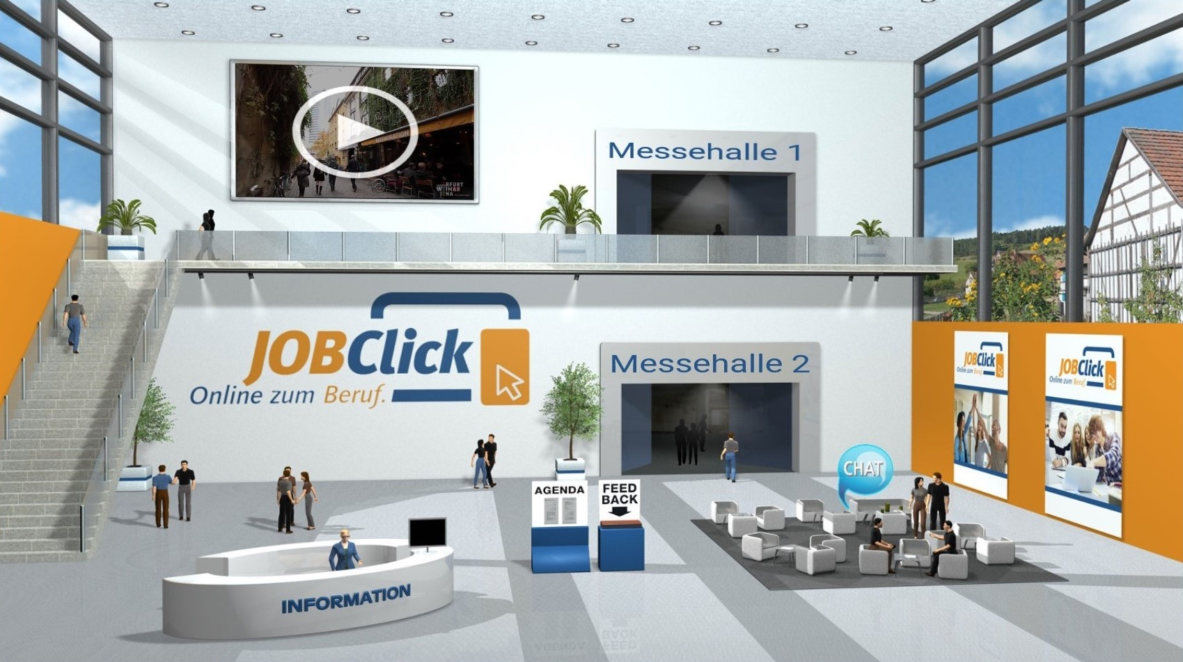 "Virtuelle Berufsmesse ""JOBClick"" - Plattform, Landratsamt Weimarer Land"
