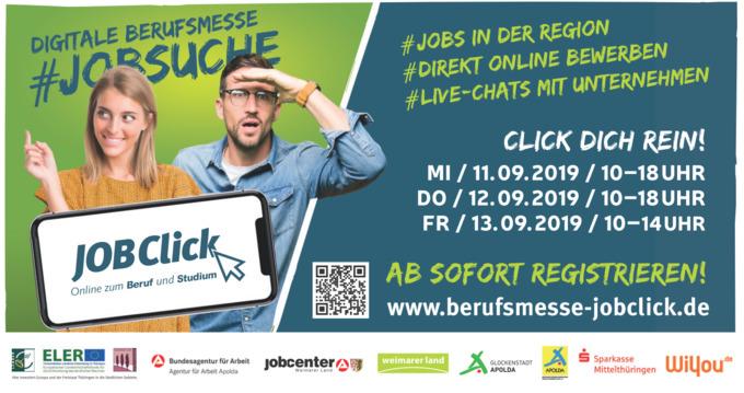 """Virtuelle Berufsmesse """"JOBClick"""" (Quelle: Landratsamt Weimarer Land)"""