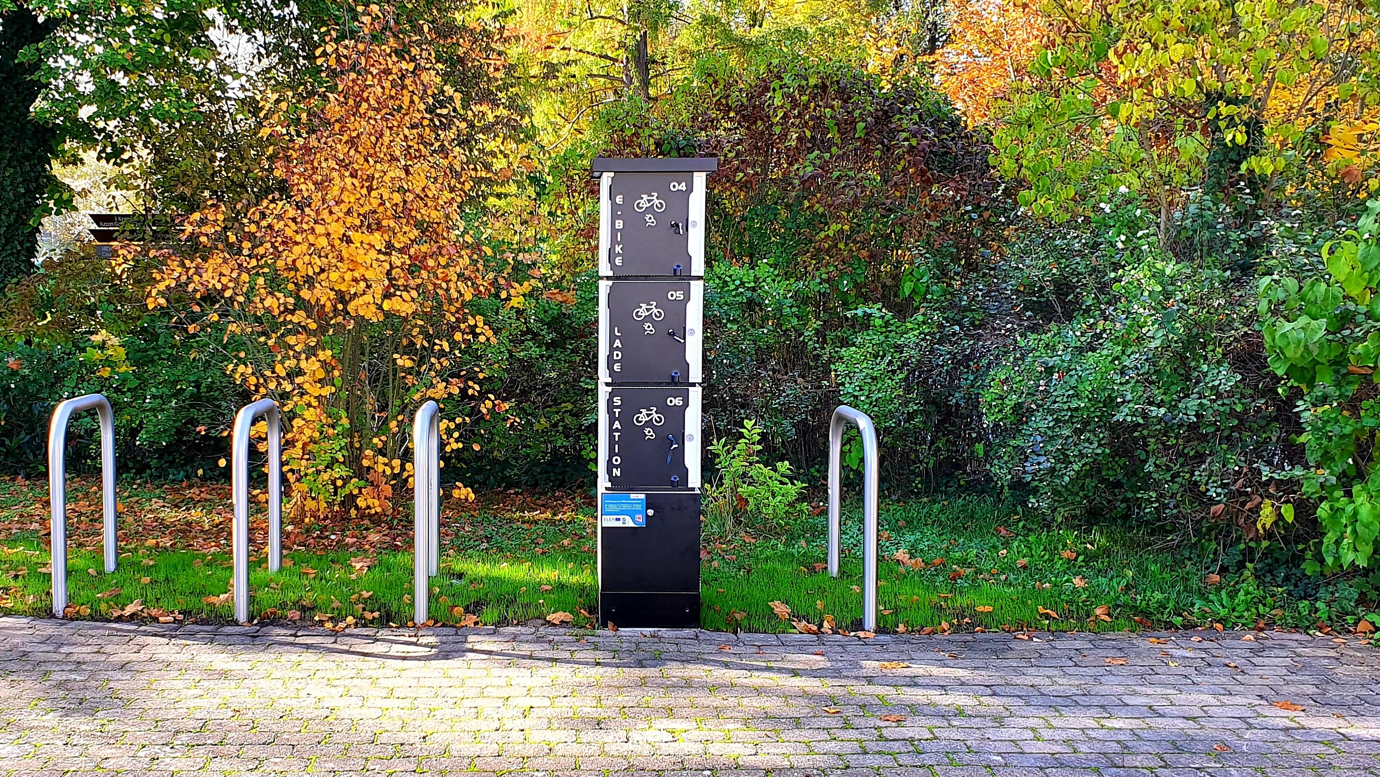 E-Bike-Ladestation an der Tourist-Information Bad Berka (Quelle: Stadt Bad Berka)