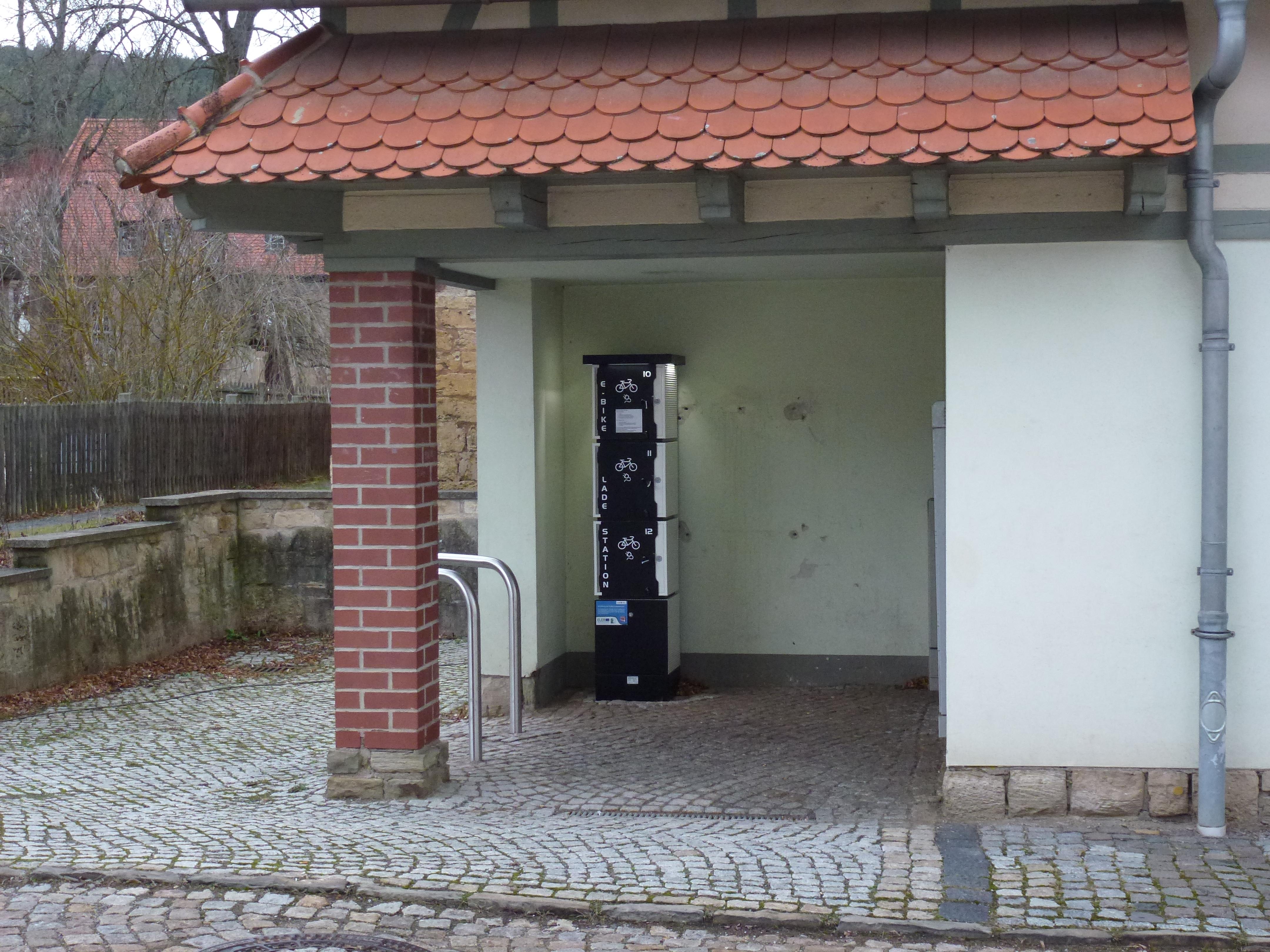 E-Bike-Ladestation (Standort: Tiefengruben, am Vereinshaus) (Stadt Bad Berka)