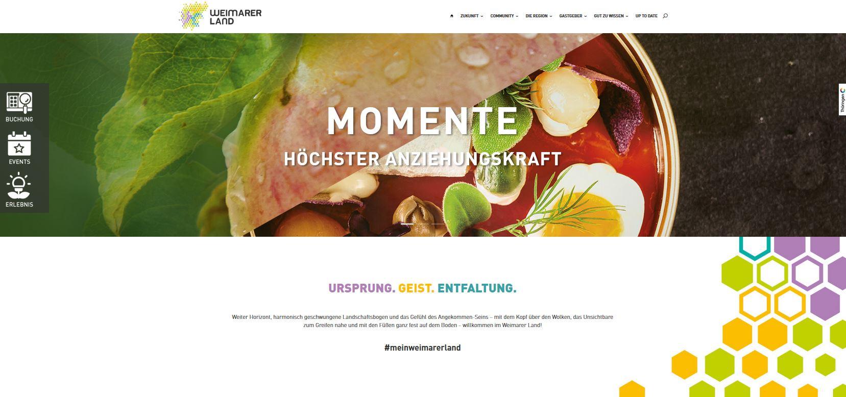 Neuer Internetauftritt (Weimarer Land Tourismus e.V.)