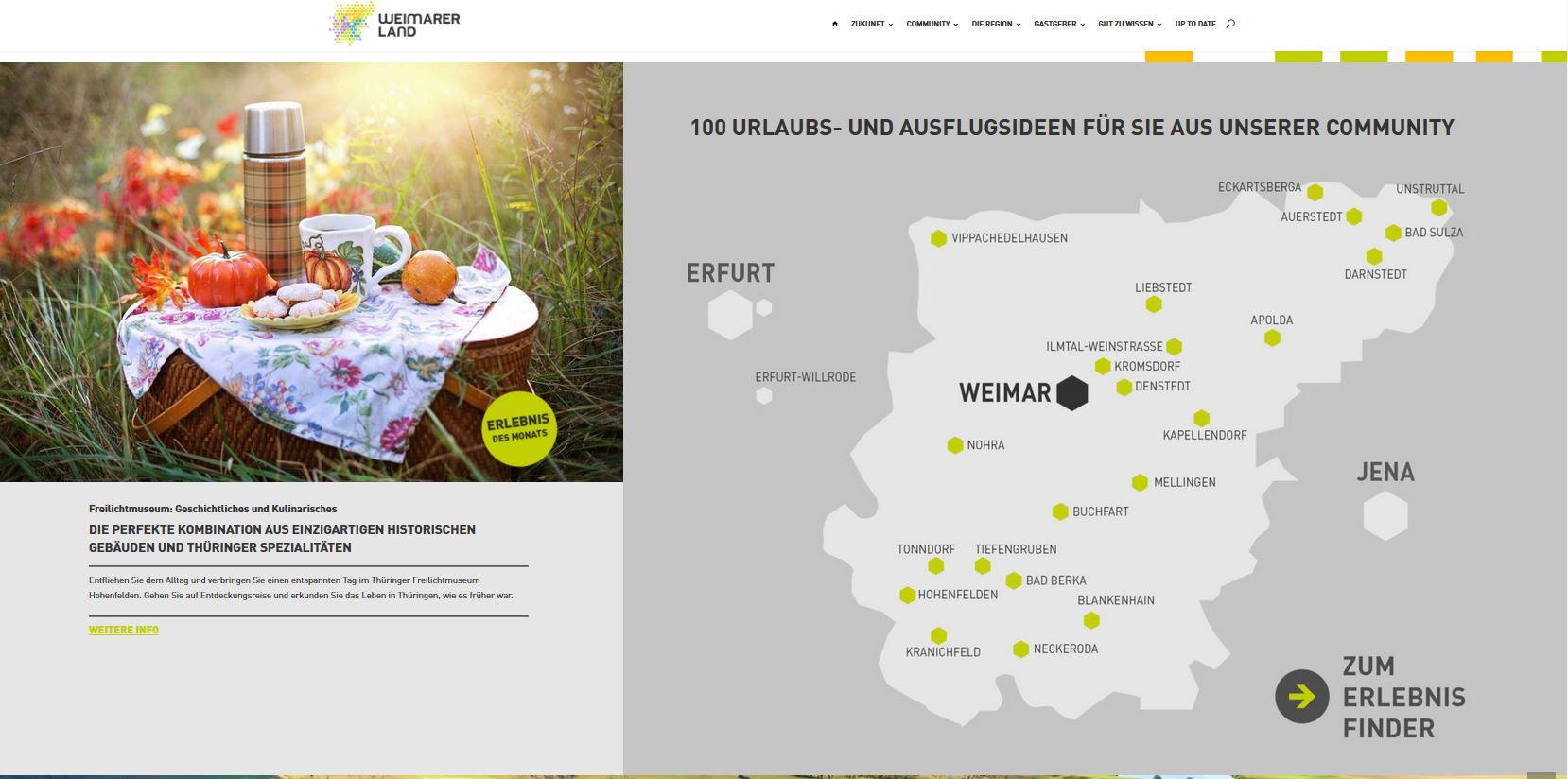 Neuer Internetauftritt, Weimarer Land Tourismus e.V.