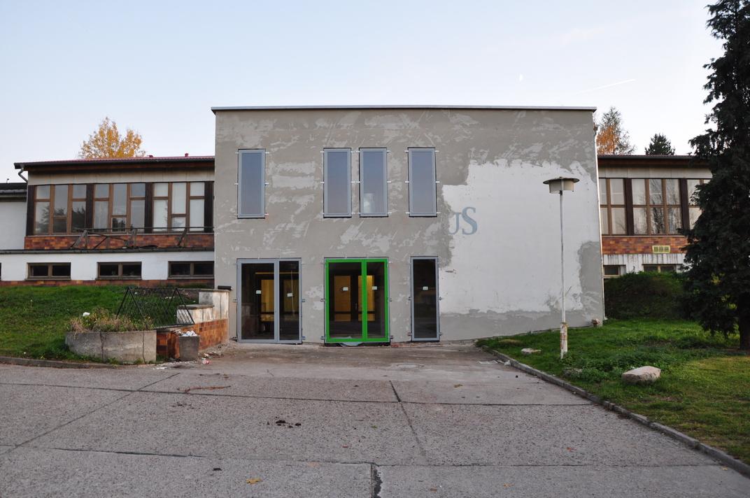 Haupteingang Kulturhaus im Bau